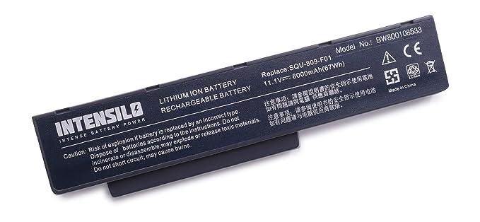 INTENSILO Li-Ion batería 6000mAh (10.8V) para Notebook ordenador portátil Packard Bell