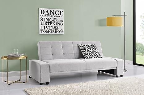 Sofá cama Chicago con diseño moderno tapizado en tela color ...