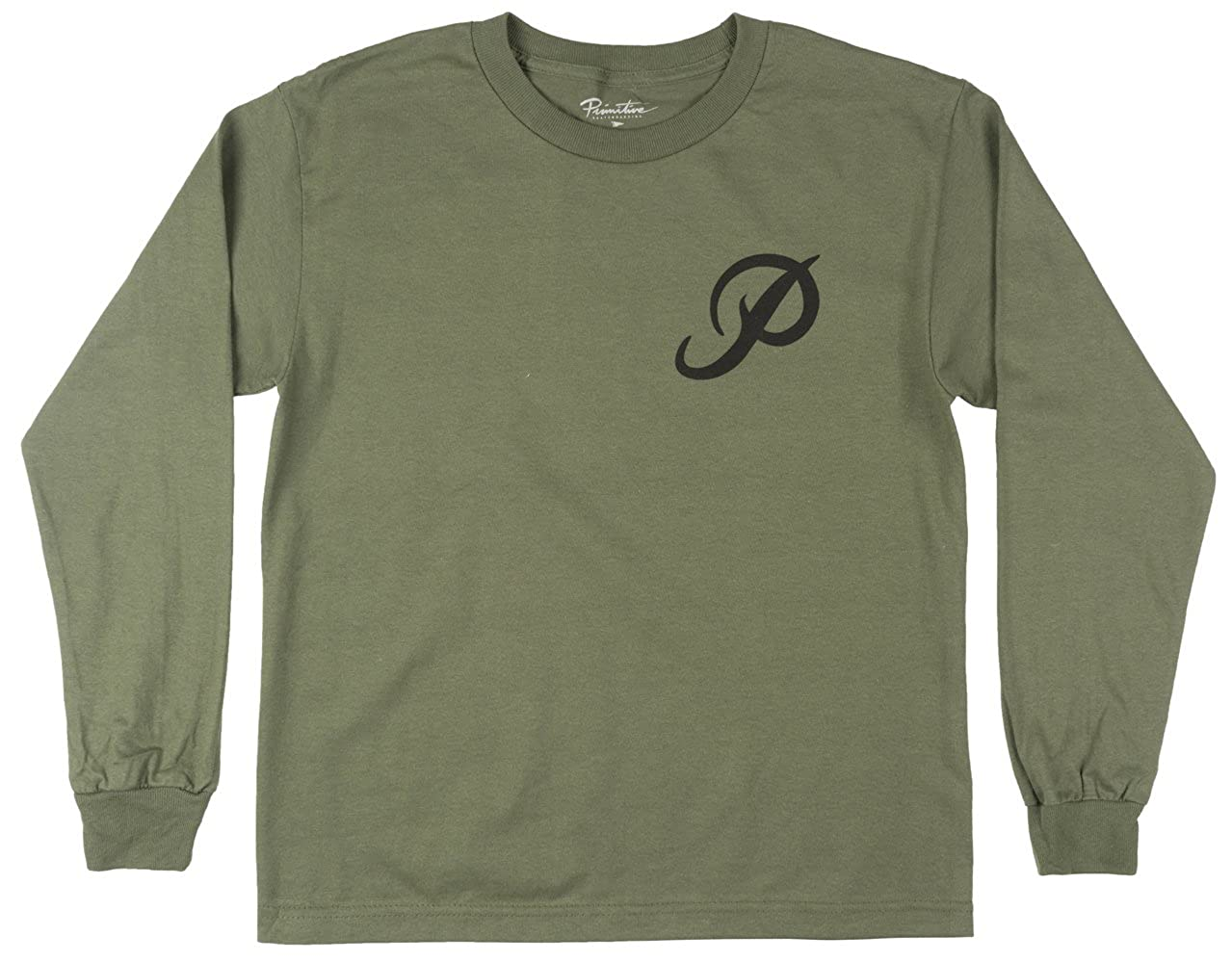 a2cca15a Amazon.com: Primitive Boys Apparel Classic P Long Sleeve Shirt Olive Kids  L: Clothing