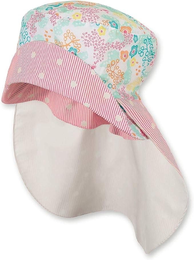 Sterntaler  Mädchen Sommer Mütze Hut mit Nackenschutz Rosa 1422036