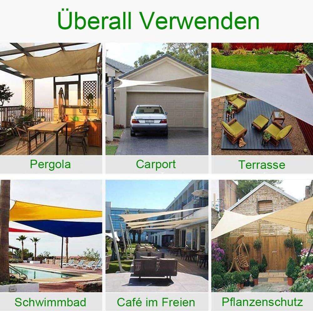 N / A Worryfree - Toldo impermeable, protección solar, 95% bloque UV, rectangular, resistente al viento, sombra, garaje y pérgola para jardín, terraza, balcón y camping, poliéster, blanco, 5x5m: Amazon.es: Hogar