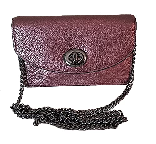 953a222c498 Coach metallic pebbled leather clutch crossbody purse - #53589 ...