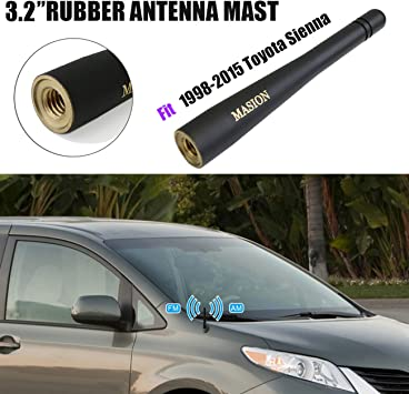 X AUTOHAUX 8 Inch Car Short Mast Antenna Auto Radio Aerial for 1979-2009 Ford Mustang