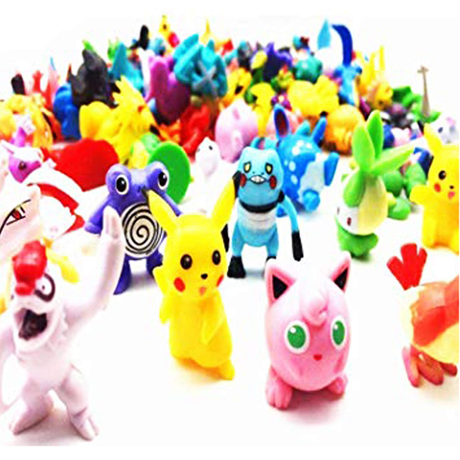 Jinhuamike Pikachu Figures Random, Pikachu Mini Toy Collection Set Pikachu Go Monster Gift - 72 Pcs by Jinhuamike