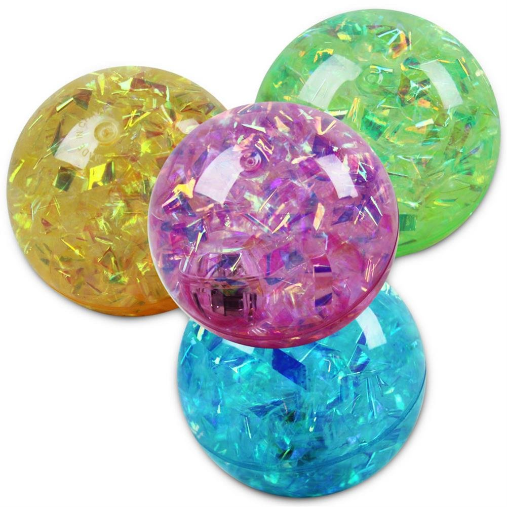 24 x HC-Handel 913957 Springball Glitzer Glitzerflummi Flummi in verschiedenen Farben
