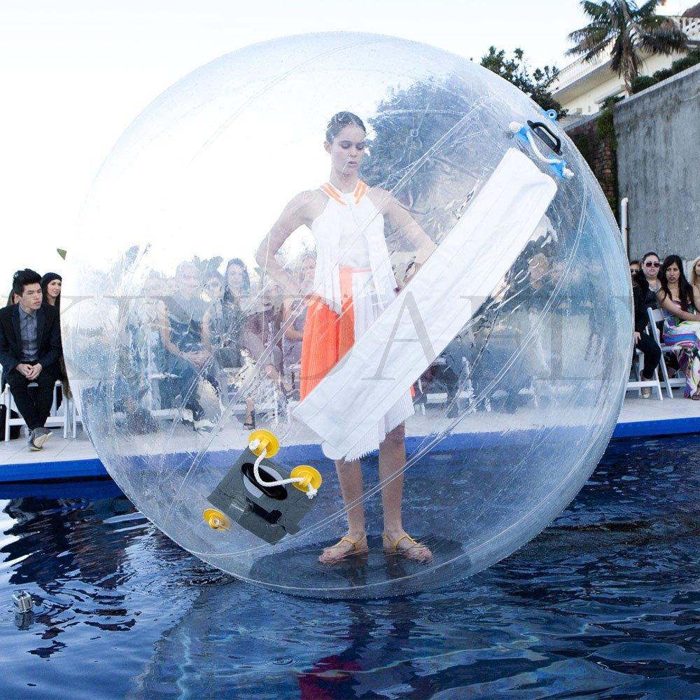 kidsfly Dia. 2m/1,8m (200,7cm/180,3cm) Kinder bubbdy Erwachsene Walking Ball/Wasser PVC aufblasbar TIZIP-Walk Ball Wasser Spiel