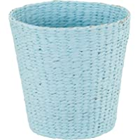 Household Essentials Blue Wicker Waste Basket Paper Rope