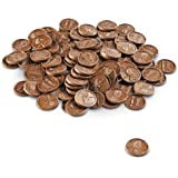 Plastic Pennies (100), Actual Size Play Money