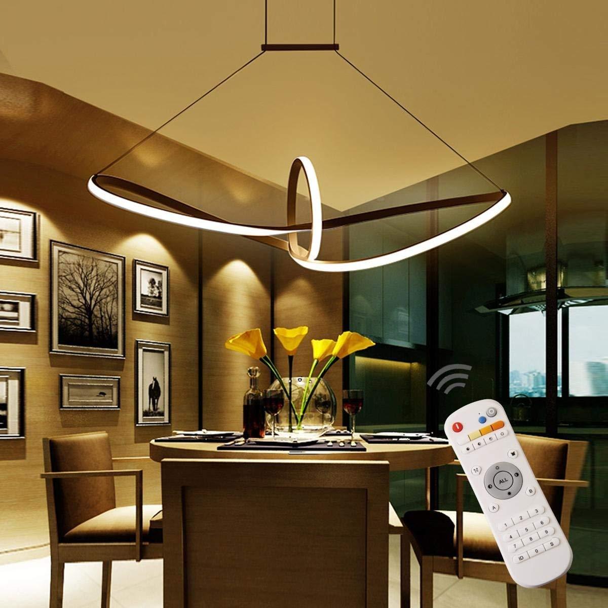 Homeny 48W LED Pendelleuchte Esstisch Hängelampe Pendellampe ...