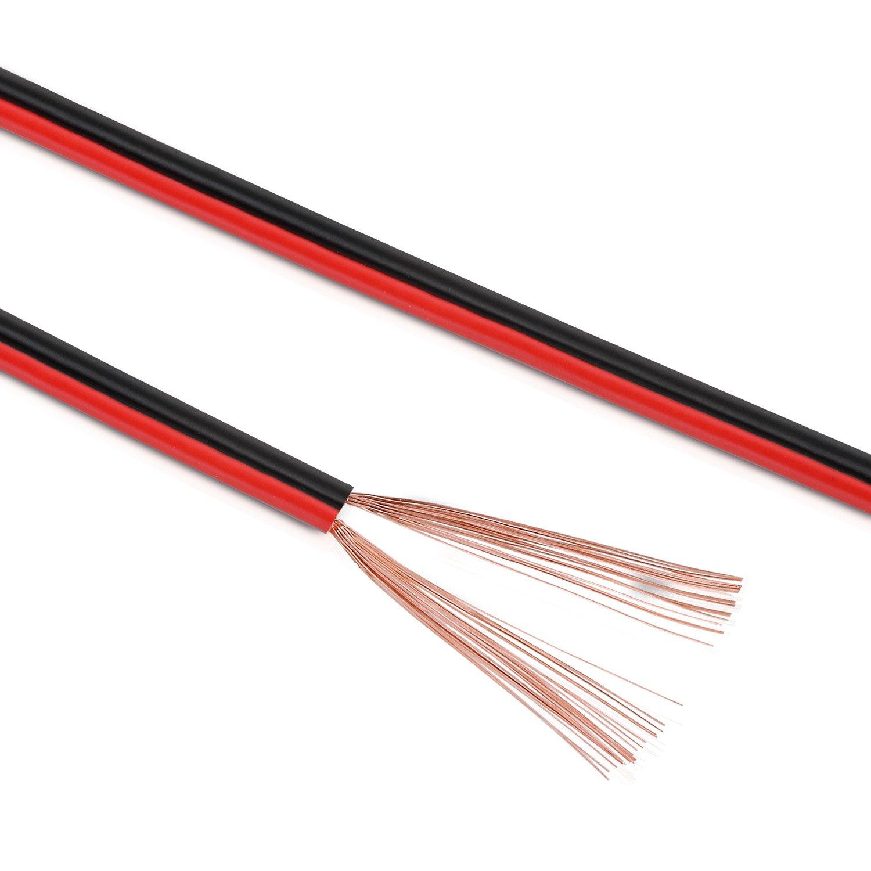 MANAX 10 m Lautsprecherkabel 2 x 0,75 mm² red / black: Amazon.co ...