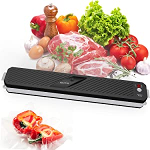 Vacuum Sealer Machine, OOTD Automatic Food Sealer Small Vacuum Packing Machine Dry Mode with Starter Kit for Food Saver and Preservation of Home Use