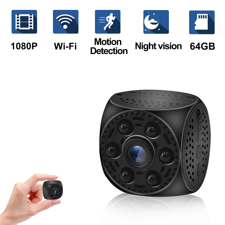 Mini Hidden Spy Camera, Ruidla Wireless Wifi Camera 1080P HD with Night Vision Motion Detection Nanny Cam Home Office Security Surveillance Camera