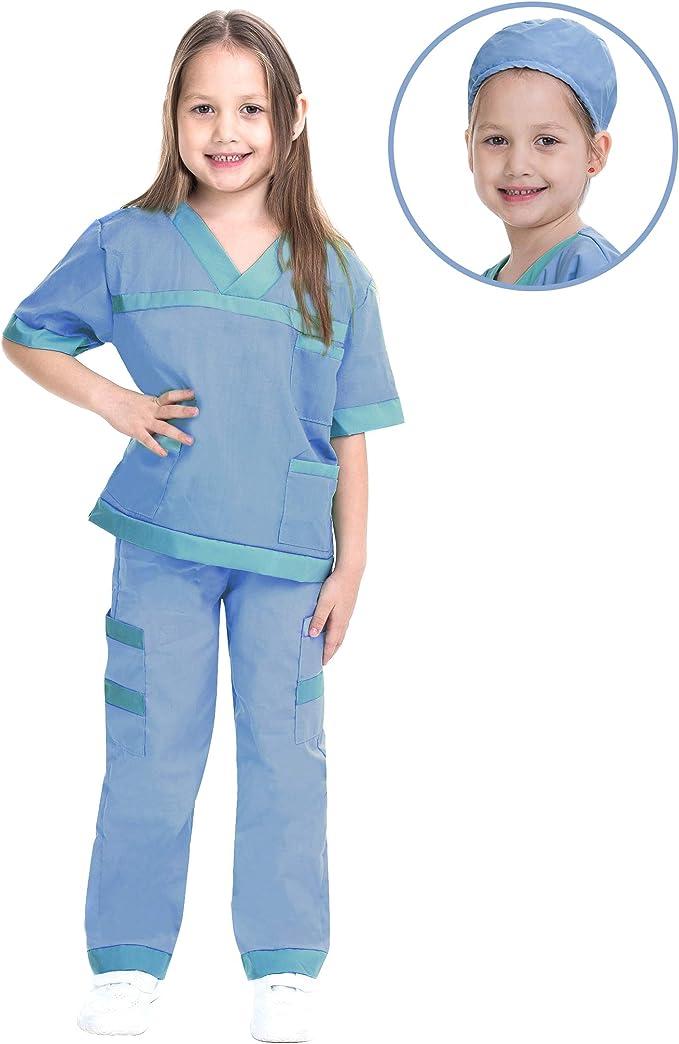 Amazon.com: Dr. Scrubs Disfraz de veterinario para niños de ...