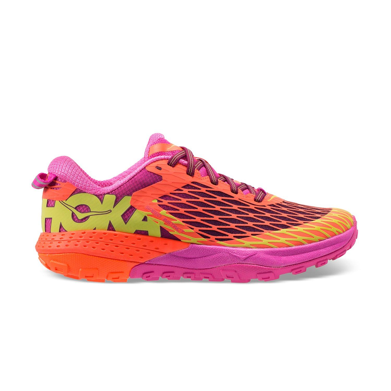 HOKA ONE ONE Women's Speed Instinct Shoe B01AXG8IYK 10 B(M) US Neon Coral/Plum
