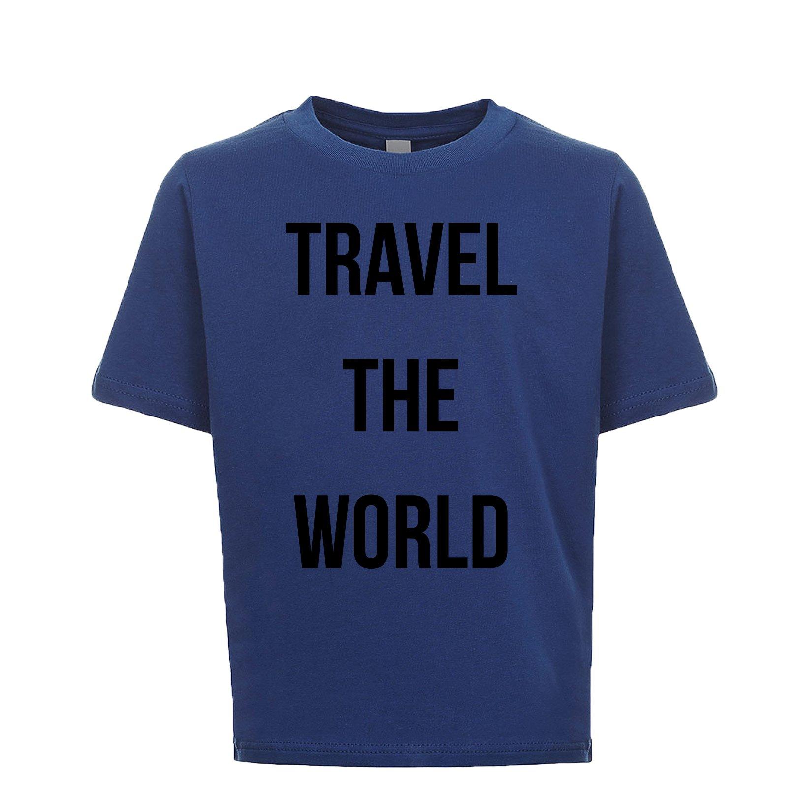 Travel The World Unisex Kids Tee Royal Small