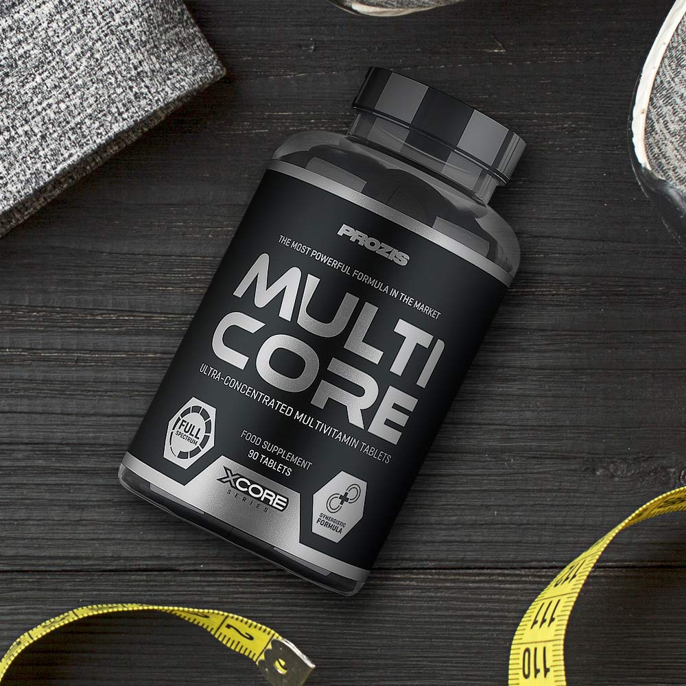 Xcore Multicore - Multivitaminé, Améliore le Niveau dÉnergie et la Permormance Musculaire , Supplément de Croissance, Action Anabolisante , 90 ...