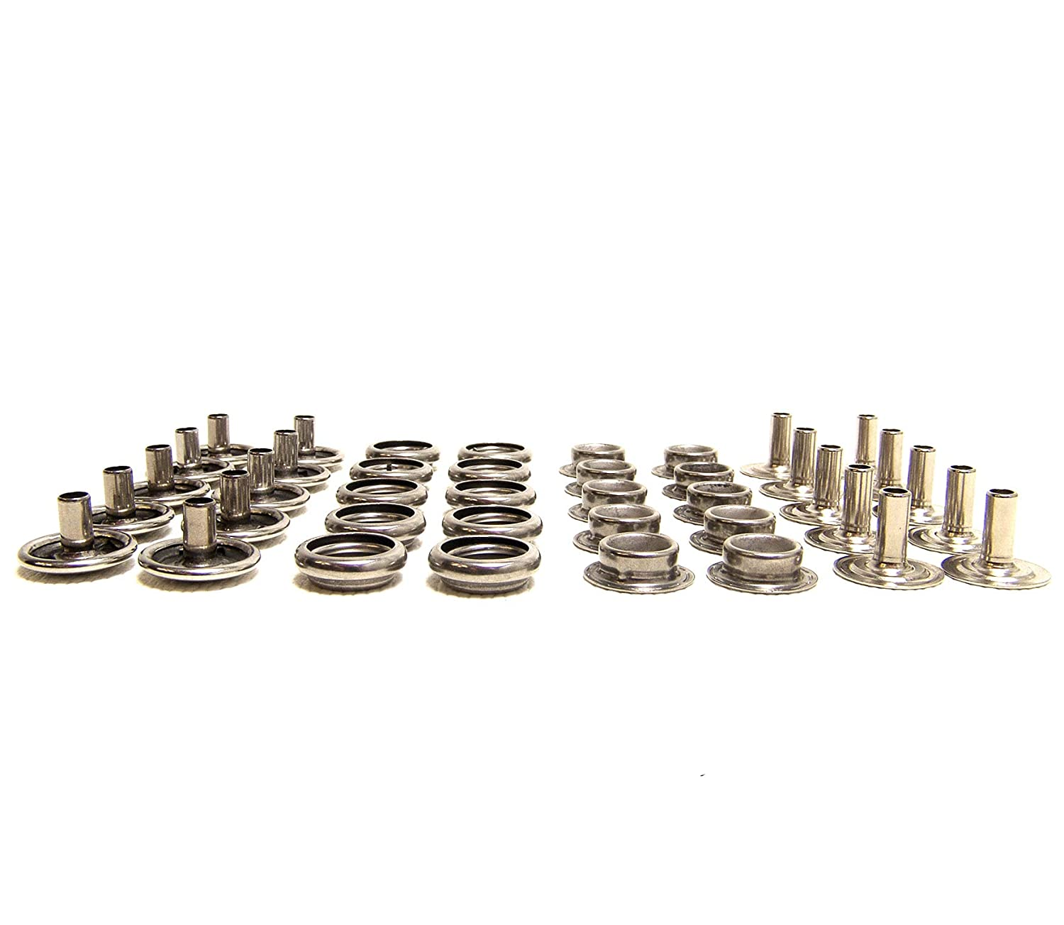80 Pcs.Total Shipped from The USA! 20 of Each Piece Stainless Steel Snaps