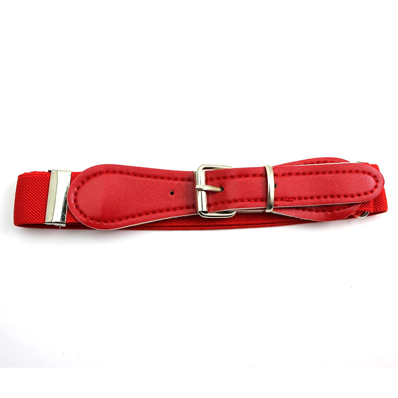 VANKER Ajustable del color del caramelo cintura de la pretina de la banda de ni/ños Rojo