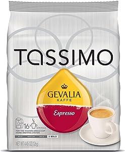 Tassimo Gevalia Kaffe Espresso Coffee T-Discs, Pack of 5 (80 T-Discs)