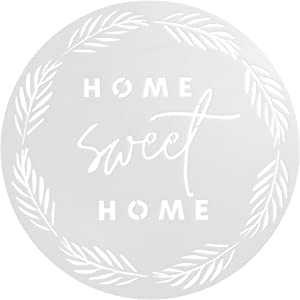 "Home Sweet Home Stencil | 12"" Inch Large Reusable 18 mil Mylar Round Stencil Template 