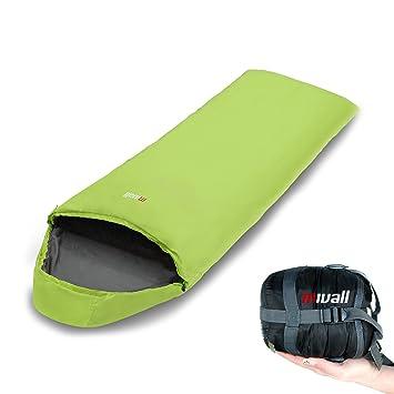 Saco de dormir Mivall Patrol, manta de color limón, ultraligero, pequeño, cálido, saco de dormir para viajes.: Amazon.es: Deportes y aire libre
