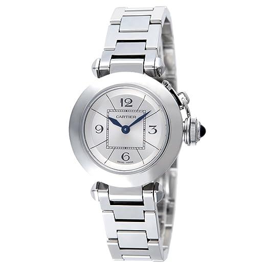Cartier W3140007 - Reloj de pulsera mujer, acero inoxidable: Amazon.es: Relojes
