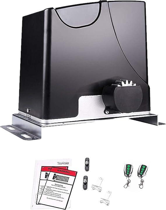 TOPENS DK1000 - Abridor de puerta corredera para portón deslizante de hasta 4 kg, compatible con energía solar: Amazon.es: Bricolaje y herramientas