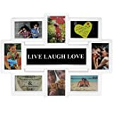 Close Up Portaretratos Multiple Live-Laugh-Love [Blanco] (44cm x 56cm