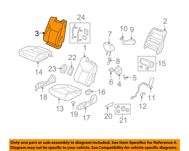 Honda Genuine 04815-SCV-L01ZC Seat Trim Cover Set Front Left