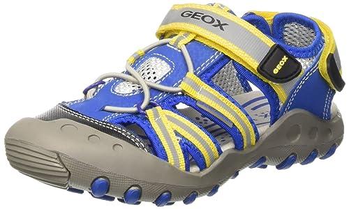deff1c529b5 Geox Jr Sandal Kyle C, Boys' Open Toe Sandals, Multicoloured (Multicolor  (Royal/Yellow), 2.5 UK (35 EU): Amazon.ca: Shoes & Handbags