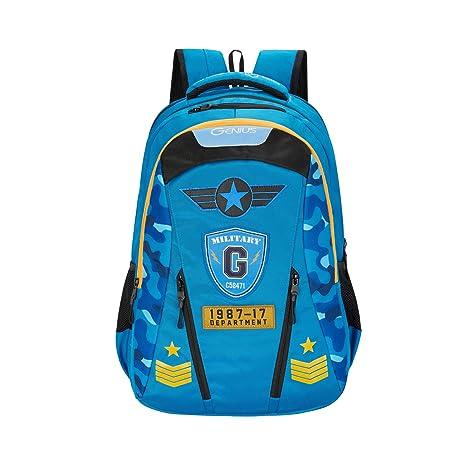 Genius 17 inch 33.5 Ltrs Blue Laptop Backpack  CAMO19SBBLU