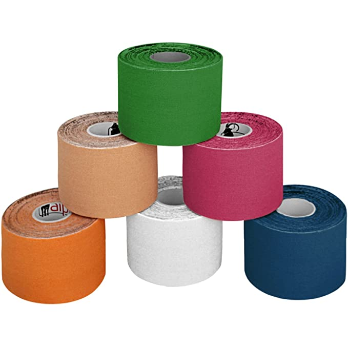 150 opinioni per ALPIDEX 6 rotoli di nastro kinesiologico 5 m x 5,0 in molti colori, Colore:misto