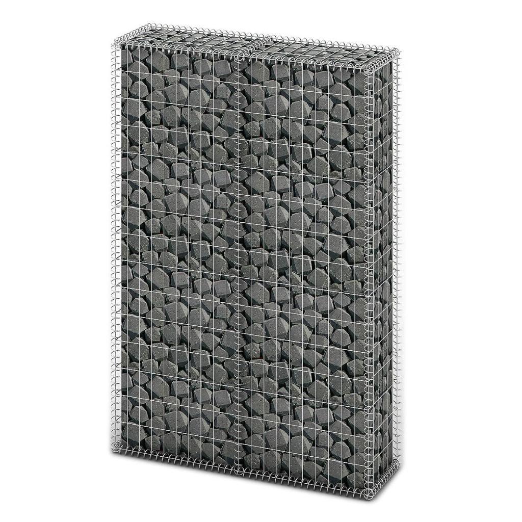 Chloe Rossetti Gabion Basket Wall with Lids Galvanized Wire 59''x39.4''x11.8''Mesh size: Approximately 3.9'' x 2''; 11.8'' x 7.9'' (L x W)