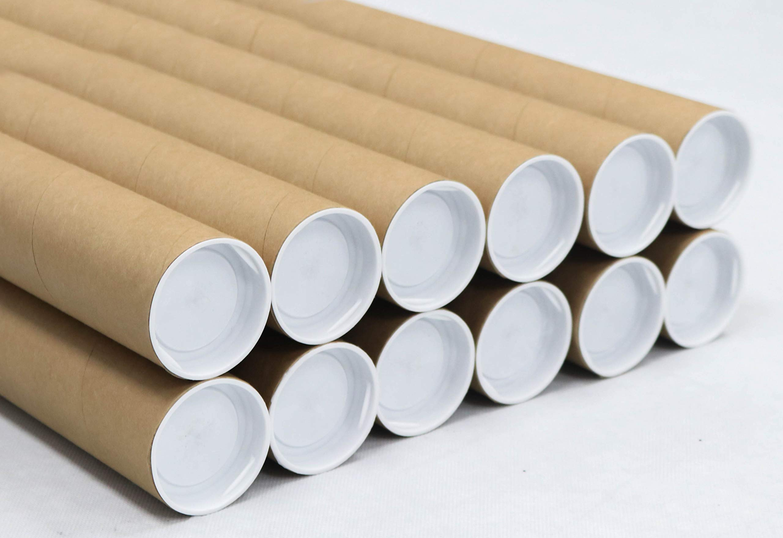 2 inch x 15 inch, Mailing Tubes with Caps (12 Pack) | MagicWater Supply