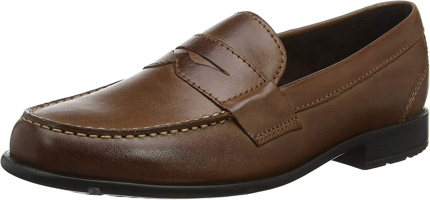 Rockport Classic Loafer Penny Dk Brown, Mocasines para Hombre