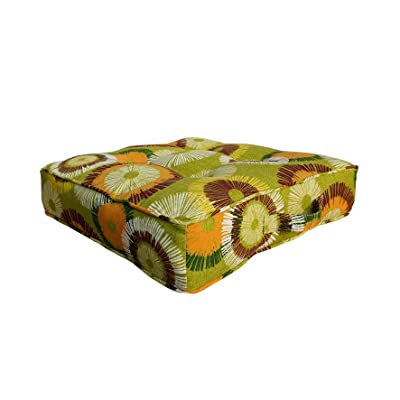 BOSSIMA Outdoor Indoor Chair Tufted Cushions Comfort Replacement Patio Seating Cushions Sun Flower Prints Yellow : Garden & Outdoor