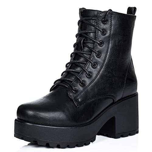 Mujer Cordone Bloque Zapatos Bajas Shotgun Botes Tacón Spylovebuy 5ZcaqR