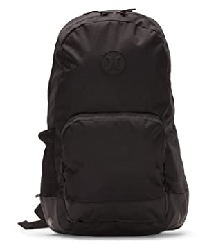 Hurley M Blockade II Solid Backpack Mochilas, Hombre, Black/White or Newsprint, 1SIZE: Amazon.es: Deportes y aire libre