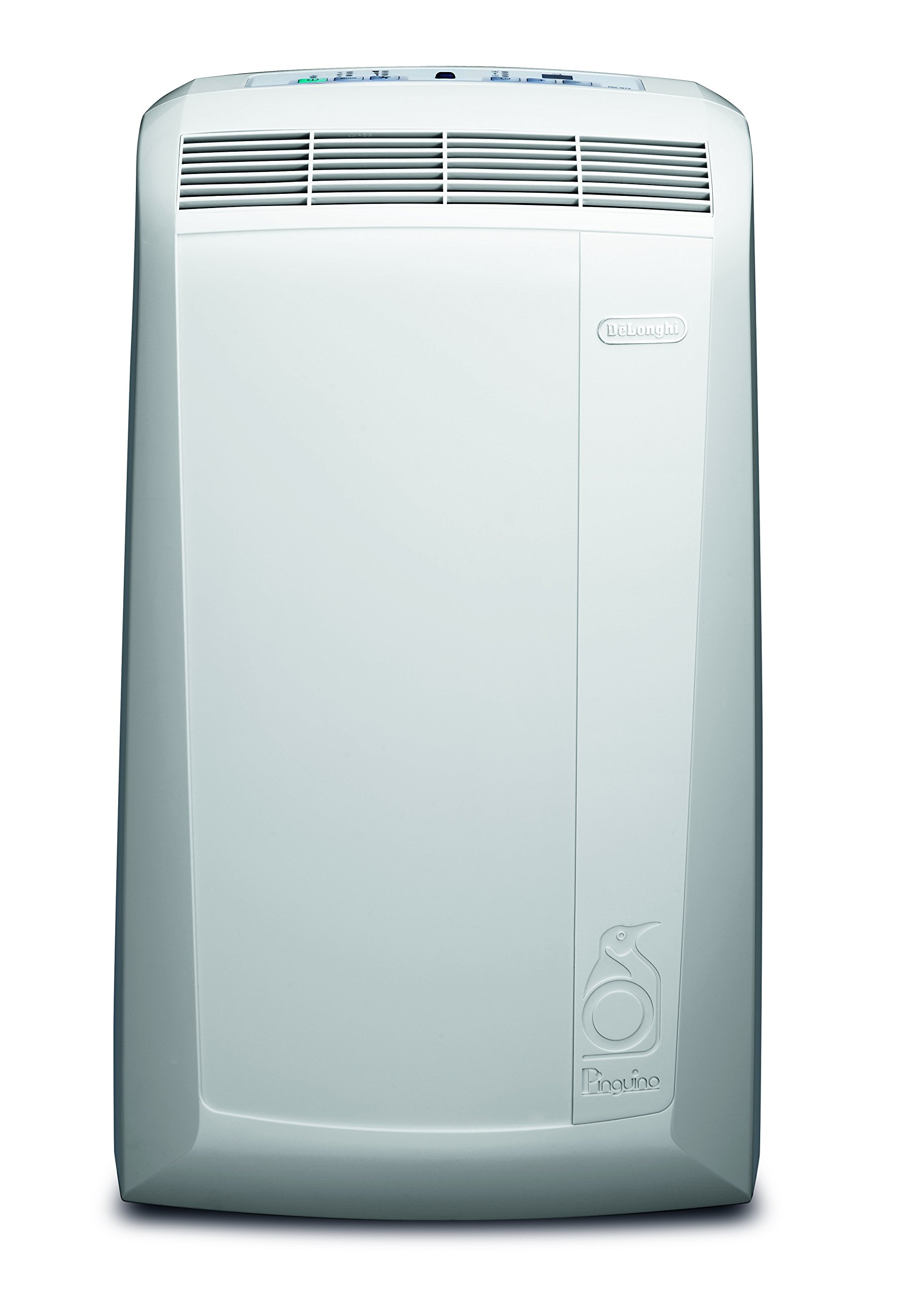 De'Longhi PAC N81 Mobiles Klimagerät (Max. Kühlleistung 9400 Btu/h (35°C/80% R.H.), Separate Entfeuchtungsfunktion, Geeignet für Räume bis 80 m³) Weiß product image