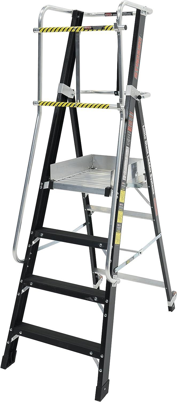 Little Giant 19404EN Stadium - Escalera de plataforma de 4 peldaños, color negro: Amazon.es: Bricolaje y herramientas