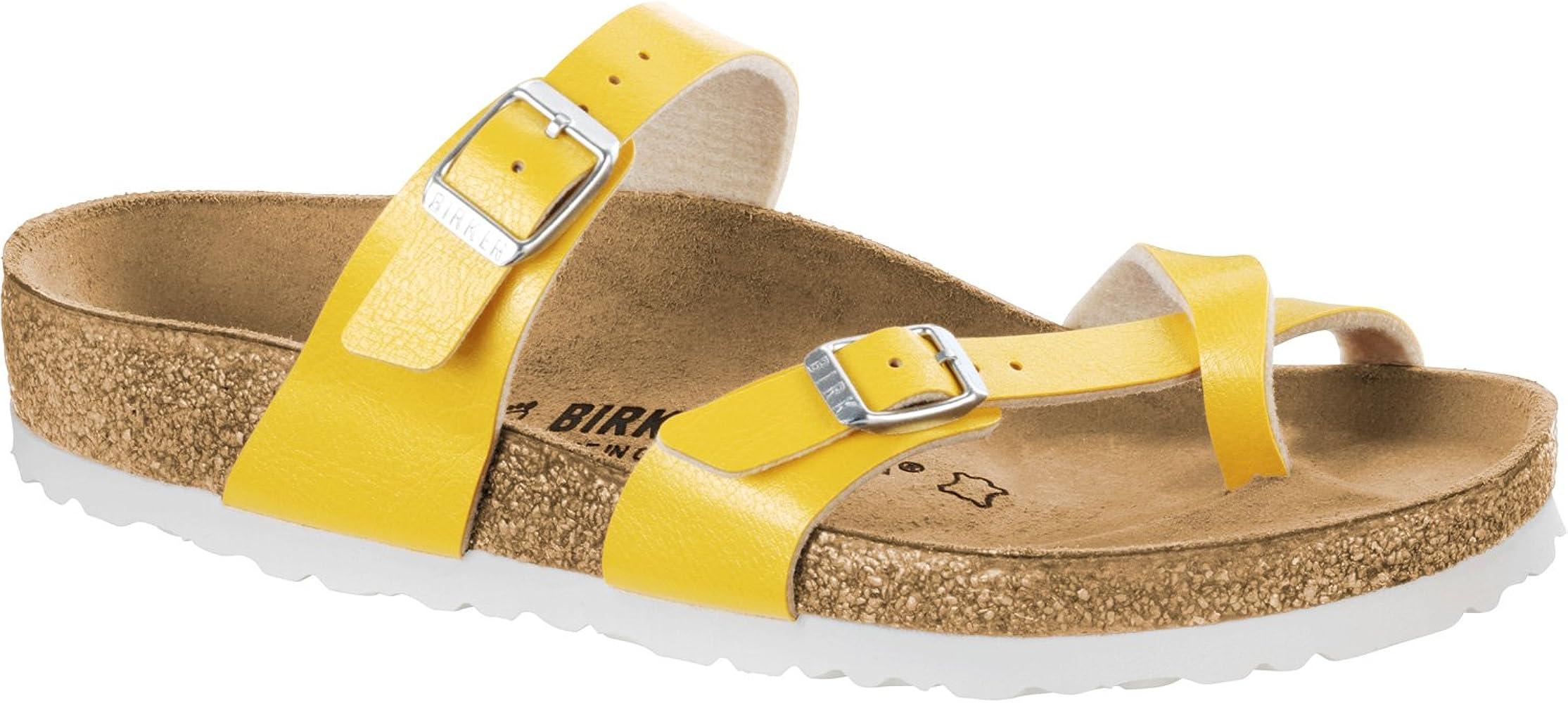 27b892667 Birkenstock Mayari BF W thong sandals amber yellow: Amazon.co.uk ...
