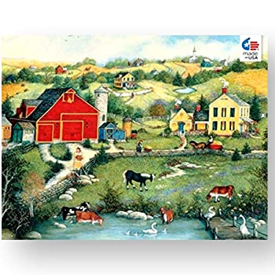 Ceaco Linda Stock Nelson Sweet Meadowland Jigsaw Puzzle with Poster Tower Box 550 Pieces: Toys & Games