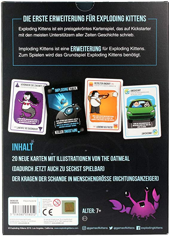 I Played Exploding Kittens And Saw Many Wondrous Things Exploding Kittens Exploding Kittens Card Game Card Games