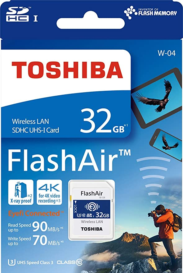 Toshiba Flash Air W 04 32 Gb Sdhc Class 10 Memory Card by Toshiba