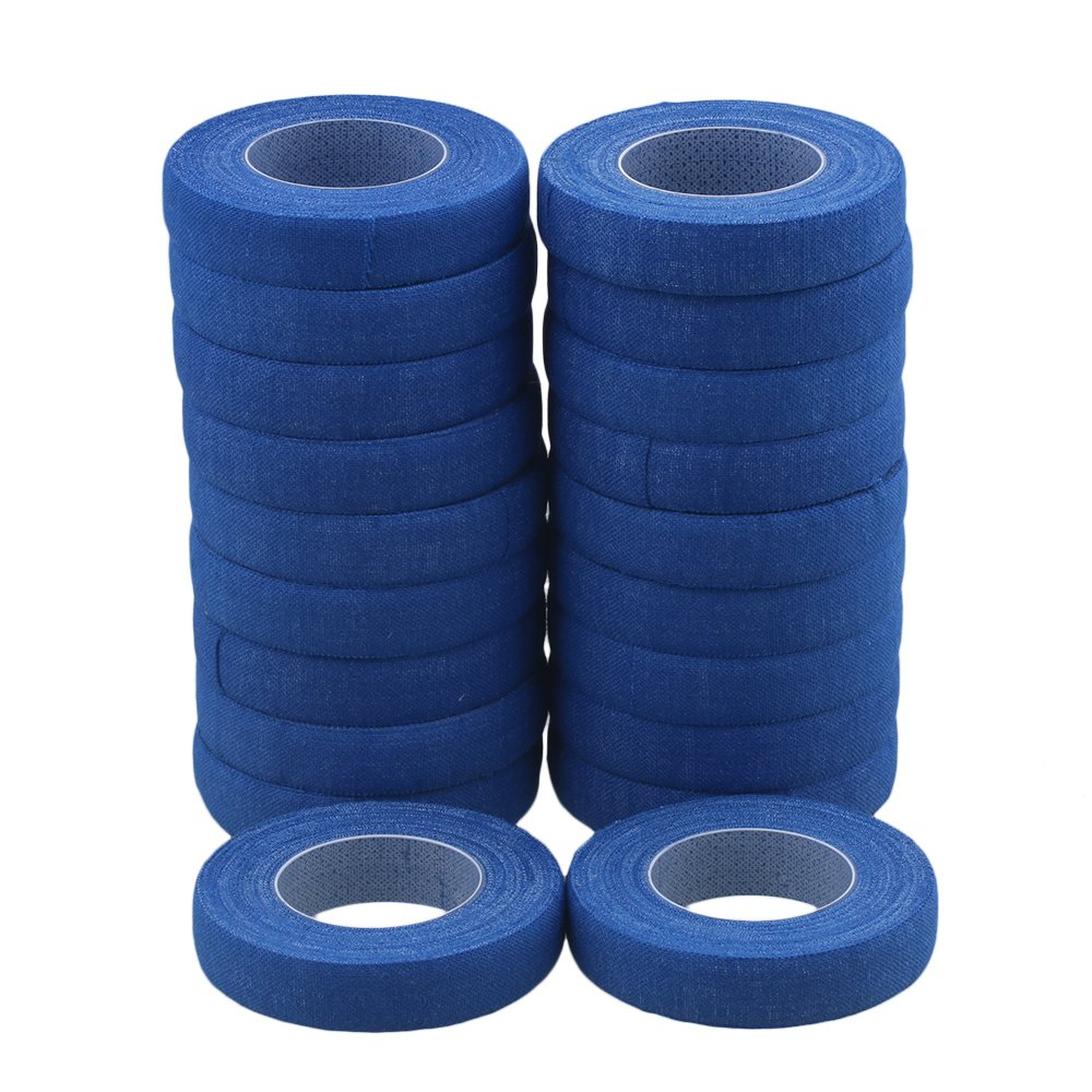 lovermusic 20pcs 500cm Blue Cotton Nail Finger Adhesive Tape for Guitar Guzheng Lute