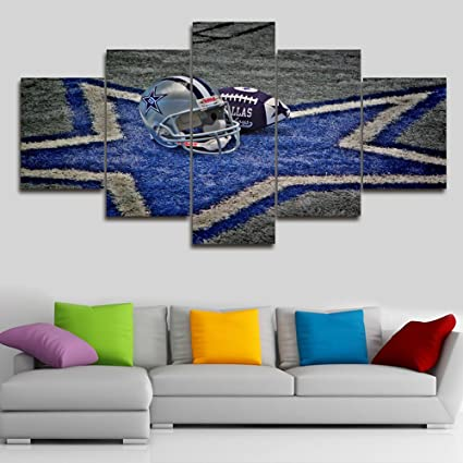 5 Piece Canvas Wall Art NFL Sports Dallas Cowboys Paintings Home Decor Prints On