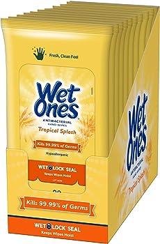 10-Pack of 20-Count Wet Ones Antibacterial Hand Wipes (Tropical Splash)
