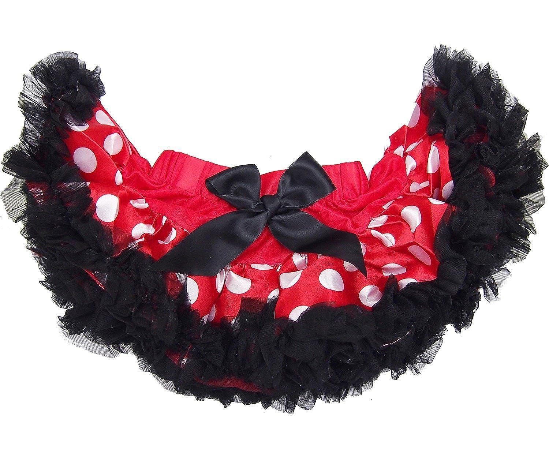 Kirei Sui Baby Red White Polka Dots Black Ruffled Pettiskirt WS237B