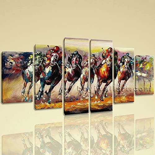 Extra Large Sport Hd Print Impressionism Home Decor Dining Room Six Pieces