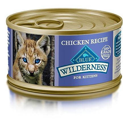Blue Buffalo Wilderness Kitten Grain Free Chicken Pate Wet Cat Food 3-oz (pack of 24)